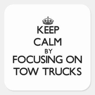 Mantenha a calma focalizando em caminhões de reboq