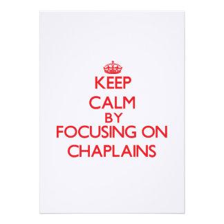 Mantenha a calma focalizando em capelães convite