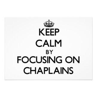 Mantenha a calma focalizando em capelães