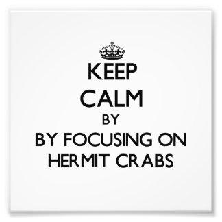 Mantenha a calma focalizando em caranguejos de ere