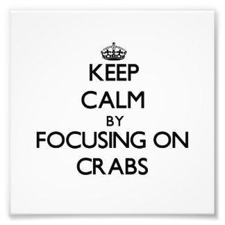 Mantenha a calma focalizando em caranguejos