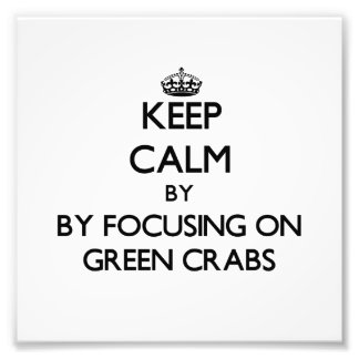 Mantenha a calma focalizando em caranguejos verdes