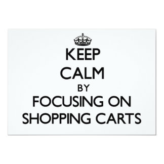 Mantenha a calma focalizando em carrinhos de convites personalizados