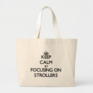 Mantenha a calma focalizando em carrinhos de crian bolsa de lona