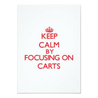 Mantenha a calma focalizando em carros convite personalizado