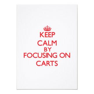 Mantenha a calma focalizando em carros convite