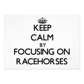 Mantenha a calma focalizando em cavalos de corrida