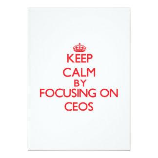 Mantenha a calma focalizando em CEOs