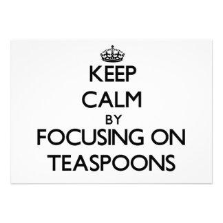 Mantenha a calma focalizando em colheres de chá