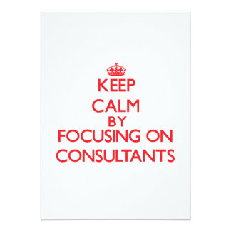 Mantenha a calma focalizando em consultantes convite personalizado