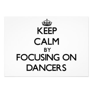 Mantenha a calma focalizando em dançarinos
