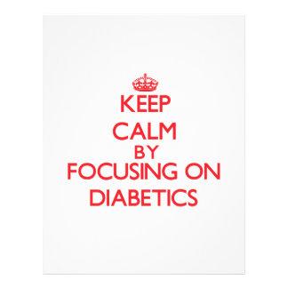 Mantenha a calma focalizando em diabéticos panfleto