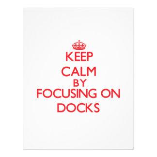 Mantenha a calma focalizando em docas panfletos