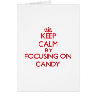 Mantenha a calma focalizando em doces cartoes