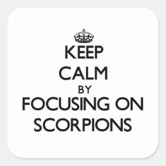 Mantenha a calma focalizando em escorpião