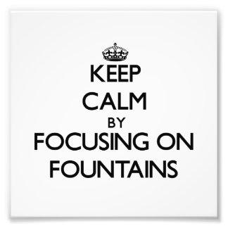 Mantenha a calma focalizando em fontes impressão fotográficas