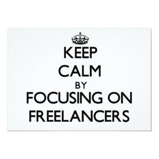 Mantenha a calma focalizando em Freelancers Convites Personalizado