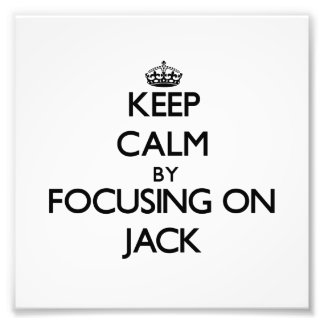 Mantenha a calma focalizando em Jack
