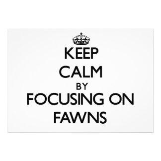 Mantenha a calma focalizando em jovens corças