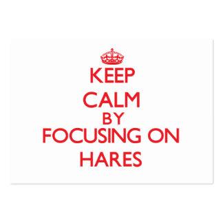 Mantenha a calma focalizando em lebres cartoes de visita