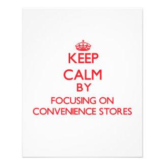 Mantenha a calma focalizando em lojas panfleto personalizado