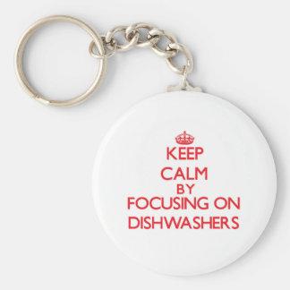 Mantenha a calma focalizando em máquinas de lavar chaveiros