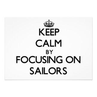 Mantenha a calma focalizando em marinheiros