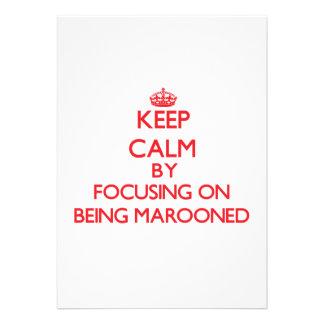 Mantenha a calma focalizando em Marooned Convites