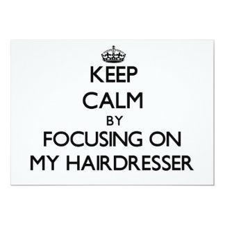Mantenha a calma focalizando em meu cabeleireiro convite
