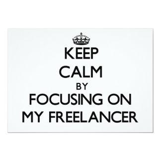 Mantenha a calma focalizando em meu Freelancer Convites Personalizados