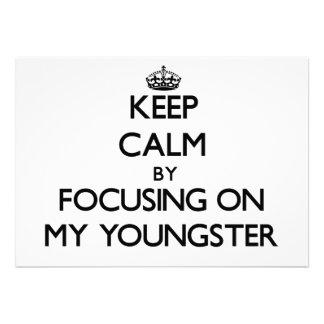 Mantenha a calma focalizando em meu jovem convite
