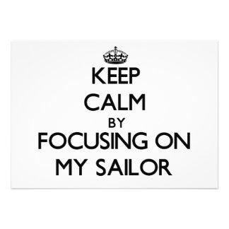 Mantenha a calma focalizando em meu marinheiro