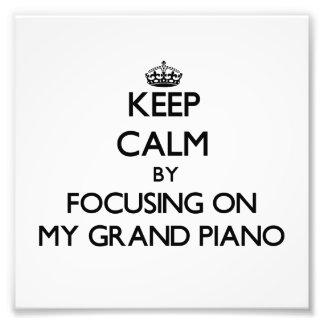 Mantenha a calma focalizando em meu piano de cauda