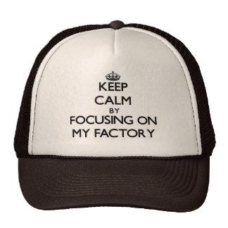 Mantenha a calma focalizando em minha fábrica