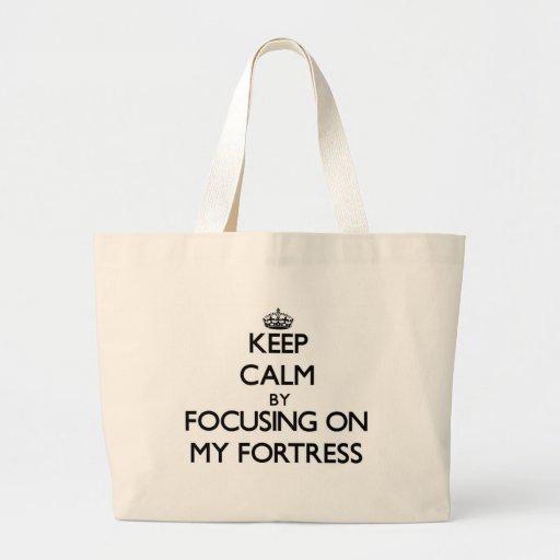 Mantenha a calma focalizando em minha fortaleza bolsas de lona