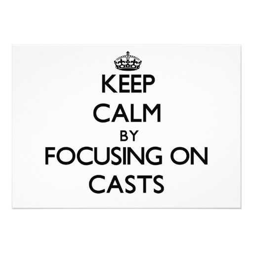 Mantenha a calma focalizando em moldes convite