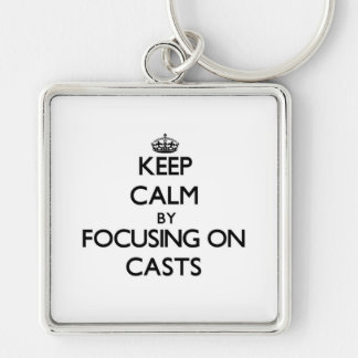 Mantenha a calma focalizando em moldes chaveiros