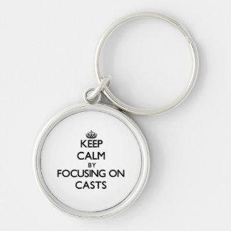 Mantenha a calma focalizando em moldes chaveiro