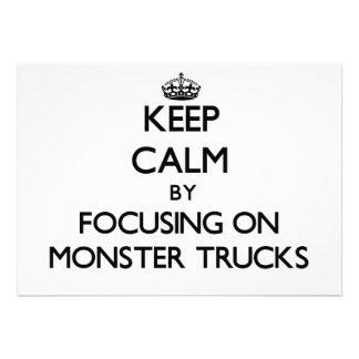 Mantenha a calma focalizando em monster truck