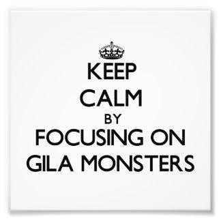 Mantenha a calma focalizando em monstro de Gila