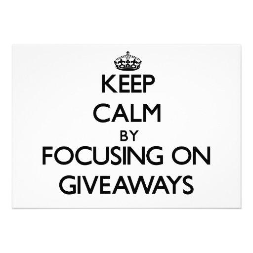 Mantenha a calma focalizando em ofertas convite