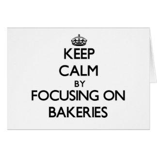 Mantenha a calma focalizando em padarias