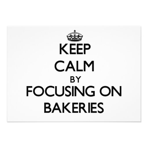 Mantenha a calma focalizando em padarias convites personalizados