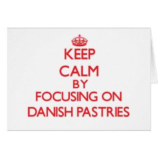 Mantenha a calma focalizando em pastelarias cartoes