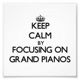 Mantenha a calma focalizando em pianos de cauda