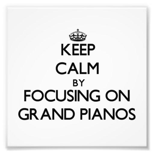 Mantenha a calma focalizando em pianos de cauda foto arte
