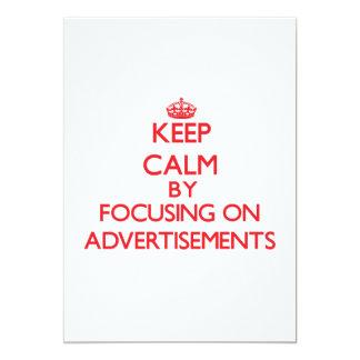 Mantenha a calma focalizando em propagandas convites personalizado