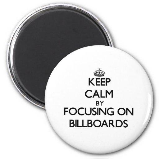 Mantenha a calma focalizando em quadros de avisos imãs de geladeira