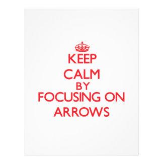 Mantenha a calma focalizando em setas panfleto