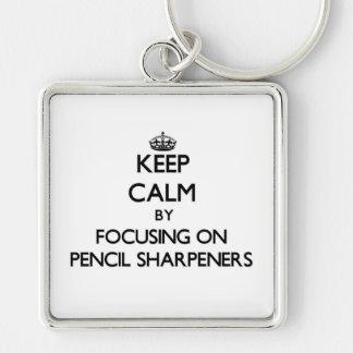 Mantenha a calma focalizando em Sharpeners de lápi